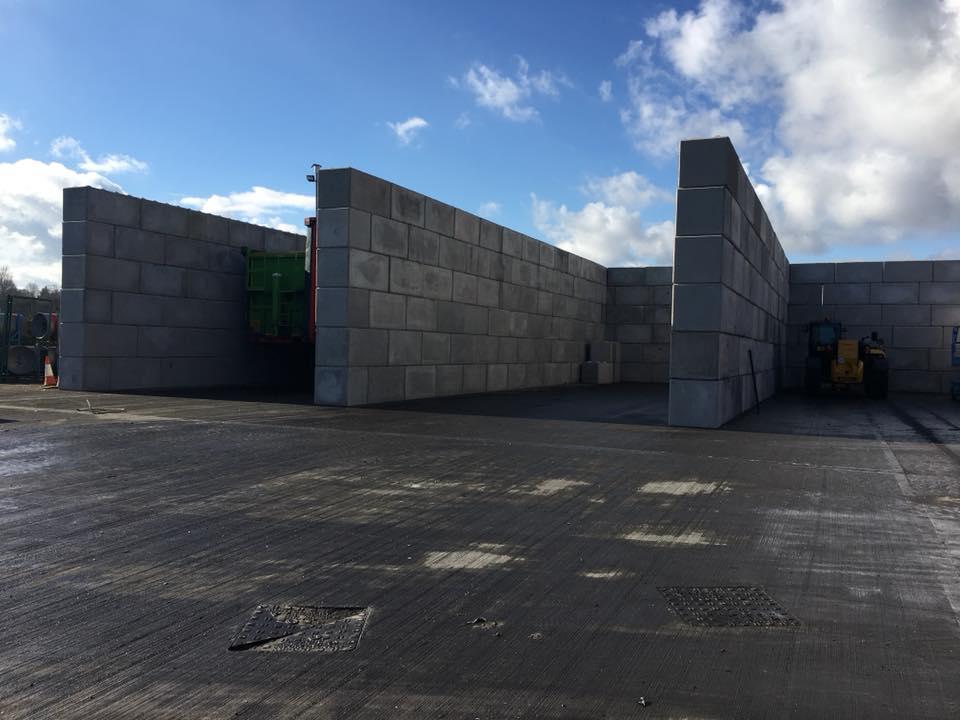 concrete block bays
