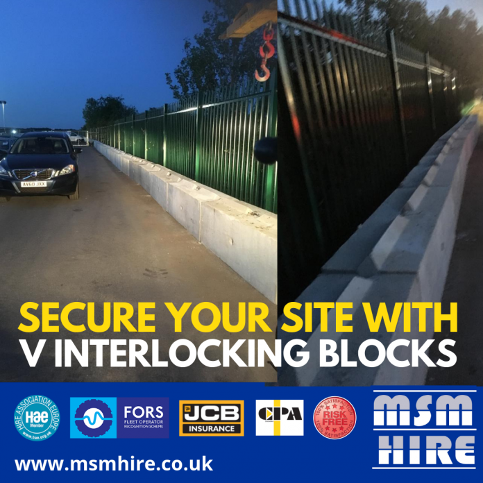 V interlocking Block Hire